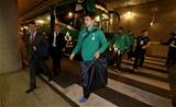 Felix Jones arrives at the stadium.