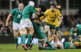 Rory Best and Rob Kearney get to grips with Henry Speight
