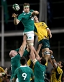 Jamie Heaslip and Luke Jones battle for the lineout