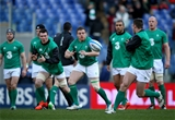 Sean Cronin prepares to gather a pass during the warm-up at the Stadio Olimpico Credit: ©INPHO/Dan Sheridan