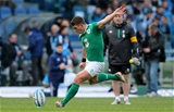 Ireland kicking coach Richie Murphy looks on as Ian Keatley fires a penalty towards the posts Credit: ©INPHO/Ryan Byrne
