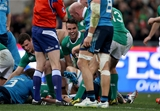 Scrum half and man-of-the-match Conor Murray celebrates his try with his Ireland team-mates Credit: ©INPHO/Dan Sheridan
