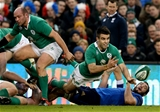Scrum half Conor Murray releases the ball away from a ruck Credit: ©INPHO/James Crombie