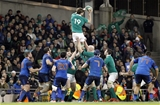 Iain Henderson is supported by Cian Healy and Paul O'Connell as he wins lineout possession for Ireland Credit: ©INPHO/Colm O'Neill