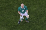 Ireland captain Paul O'Connell prepares to gather a pass during the St. Valentine's Day clash Credit: ©INPHO/Billy Stickland