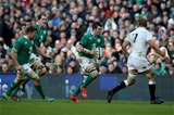 Ireland flanker Peter O'Mahony takes on the English defence, including their captain Chris Robshaw Credit: ©INPHO/Dan Sheridan