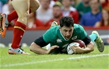 Dubliner Felix Jones finishes off Ireland's fifth try of the day Credit: ©INPHO/Dan Sheridan