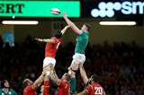 Returning lock Donnacha Ryan reaches above James King to win a lineout ball Credit: ©INPHO/Dan Sheridan