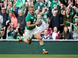 Luke Fitzgerald's 69th-minute try, which was converted by Ian Madigan, took Ireland six points clear Credit: ©INPHO/Dan Sheridan