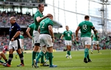Devin Toner congratulates Sean Cronin on his maul try Credit: ©INPHO/James Crombie