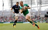 Winger Luke Fitzgerald gets free to score Ireland's fourth try Credit: ©INPHO/James Crombie