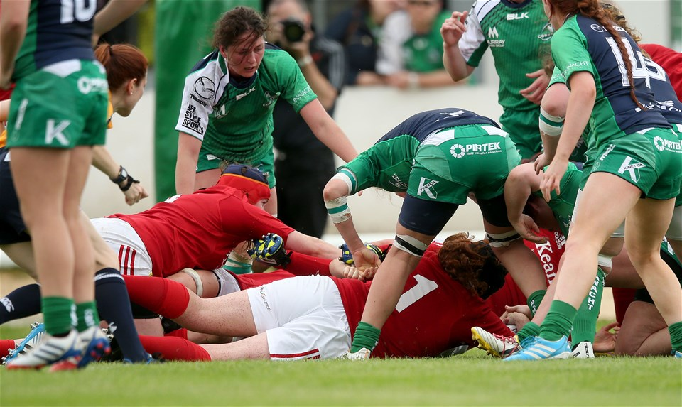 Loosehead prop Fiona Reidy crashed over to score the only try of the game for Munster