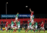 Ireland lock Dave Foley rises highest to win a lineout ball for Munster Credit: ©INPHO/Ryan Byrne