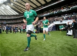 Paul O'Connell runs out at Twickenham for Ireland's fourth and final Rugby World Cup warm-up match Credit: ©INPHO/Dan Sheridan