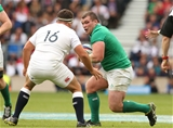 Ireland prop Jack McGrath prepares for contact with Jamie George, England's replacement hooker Credit: ©INPHO/Billy Stickland