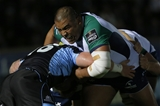 Connacht prop Rodney Ah You carries forward as he crashes into Glasgow replacement Kevin Bryce Credit: ©INPHO/Russell Cheyne