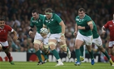 The strong-running Jamie Heaslip is supported by Peter O'Mahony and Jack McGrath Credit: ©INPHO/Billy Stickland