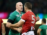 Ireland captain Paul O'Connell shakes hands with his Canadian counterpart Jamie Cudmore after the game Credit: ©INPHO/Dan Sheridan