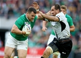 Cian Healy, Ireland's fit-again loosehead prop, tries to break away from Romanian number 8 Daniel Carpo Credit: ©INPHO/Dan Sheridan