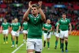 Jordi Murphy, who made his World Cup bow in London, salutes the Ireland supporters afterwards Credit: ©INPHO/Dan Sheridan