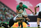 Tipperary man Donnacha Ryan makes the hard yards for Ireland at Wembley Stadium Credit: ©INPHO/Billy Stickland