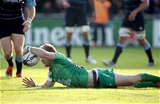 A snappy break from scrum half Kieran Marmion saw him stretch over for Connacht's opening try Credit: ©INPHO/Morgan Treacy