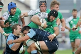 Connacht captain John Muldoon is tackled by Cardiff's Ellis Jenkins Credit: ©INPHO/Morgan Treacy