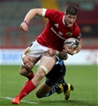 Munster flanker Jack O'Donoghue drives forward during the closing stages of the game Credit: ©INPHO/Ryan Byrne