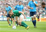 Keith Earls touches down for his eighth Rugby World Cup try - a new Irish record Credit: ©INPHO/Dan Sheridan