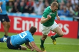 Munster speedster Keith Earls celebrates scoring Ireland's only try against Italy Credit: ©INPHO/Billy Stickland