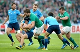 Ulster youngster Iain Henderson drives Italy scrum half Edoardo backwards Credit: ©INPHO/James Crombie