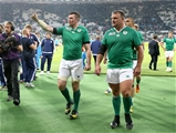Peter O'Mahony, one of Ireland's best performers, and replacement prop Nathan White make their way off the pitch Credit: ©INPHO/Dan Sheridan