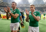 Centres Robbie Henshaw and Keith Earls leave the pitch after Ireland's seven-point triumph Credit: ©INPHO/Dan Sheridan
