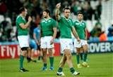 Winger Tommy Bowe gives a thumbs-up to the crowd following Ireland's hard-fought victory Credit: ©INPHO/James Crombie