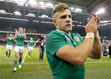 An emotional Ian Madigan salutes the fans after Ireland's win in Cardiff Credit: ©INPHO/Dan Sheridan