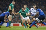 Dave Kearney tests out the French defence during the second half Credit: ©INPHO/Billy Stickland