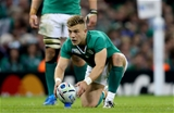 Ian Madigan, Ireland's replacement out-half, lines up a shot at the posts Credit: ©INPHO/Billy Stickland