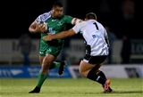 Connacht's Ireland-capped prop Rodney Ah You tries to get away from Zebre loosehead Andrea Lovotti Credit: ©INPHO/James Crombie