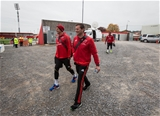Munster players Mark Chisholm and Denis Hurley arrive at the ground for the 1.30pm kick-off Credit: ©INPHO/Ryan Byrne