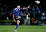 Fergus McFadden chips over the conversion of Leinster's penalty try in the second half Credit: ©INPHO/Ryan Byrne