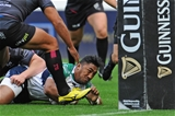 Man-of-the-match Bundee Aki scrambles towards the try-line during the first half Credit: ©INPHO/Ian Cook