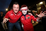 Munster and Ireland prop Dave Kilcoyne joined the young fans at the pre-match Halloween party Credit: ©INPHO/Ryan Byrne