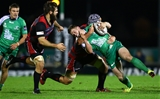 Fraser McKenzie catches Matt Healy with a high tackle that saw the Edinburgh lock sin-binned Credit: ©INPHO/James Crombie