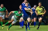 Luke McGrath, Leinster's lively replacement scrum half, beats the tackle of Treviso number 9 Edoardo Gori Credit: ©SPORTSFILE/Ramsey Cardy