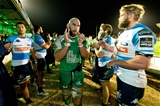 Connacht captain John Muldoon leads his team-mates off after the province's fifth straight league win Credit: ©INPHO/Morgan Treacy