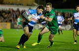 Connacht winger Matt Healy gets a tackle in on Simone Ragusi of Benetton Treviso Credit: ©INPHO/Morgan Treacy