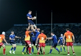 Returning lock Devin Toner secures lineout possession for Leinster at the RDS Credit: ©INPHO/Ryan Byrne