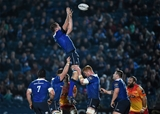Returning Ireland international Devin Toner is well supported as he gathers a lineout ball Credit: ©SPORTSFILE/Ramsey Cardy