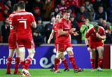CJ Stander, Munster's try-scoring skipper, celebrates at the final whistle in Limerick Credit: ©INPHO/Cathal Noonan