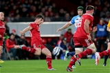 Number 10 Ian Keatley puts in a clearance kick for Munster during the opening quarter against Treviso Credit: ©INPHO/Ryan Byrne